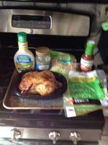 Here are the ingredients you'll need to make the BBQ Chicken Wraps.