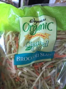 This is what the broccoli slaw looks like