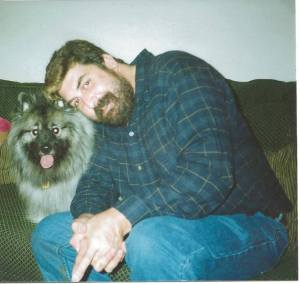 This was me in 2004 with my first Keeshond Max. I was about 250-260 lbs then,