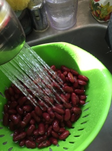 Same as before, drain the beans well and then rinse well.