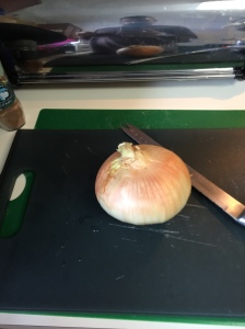 I opted to use one large medium onion instead of two medium ones.