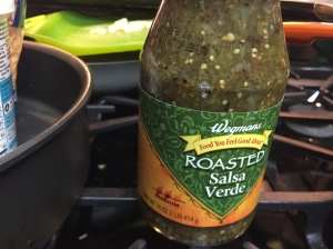 The salsa verde I bought for this recipe.