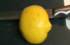 A fresh lemon.
