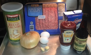 These are the primary ingredients you'll need to prepare the turkey meatloaf recipe.