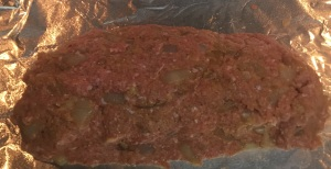 Like I said, the meatloaf doesn't have to be perfectly formed.