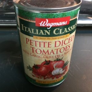Try to use no-salt Italian-style diced tomatoes.