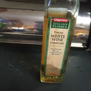 A bottle of white wine vinegar goes a long way, so it should be part of your pantry.