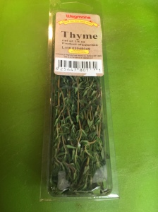 The fresh thyme package I bought.