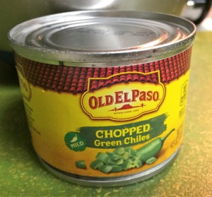 cans of chopped green chilies in your local grocery story.